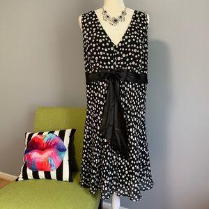 Positive Attitude Polka Dot Fit & Flare Dress C8